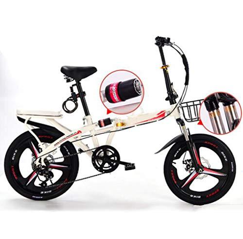 SHIN Bicicleta sin Pedales niños electrica Plegable Adulto Ligera montaña Doble Suspension...