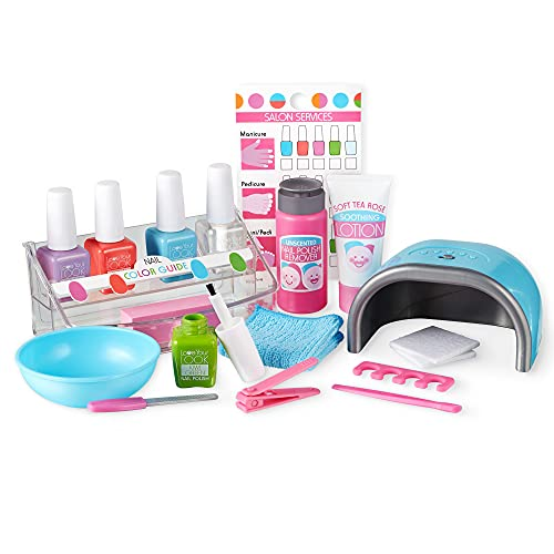 Melissa & Doug Love Your Look Pretend Nail Care Play Set – 22 Pieces for Mess-Free Play Mani-Pedis (Does NOT Contain Real Cosmetics), Pink