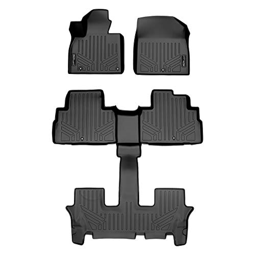 SMARTLINER SA0417/B0447 for 2020-2021 Kia Telluride Only Fits with 2nd Row Bucket Seats Without Center Console, Black