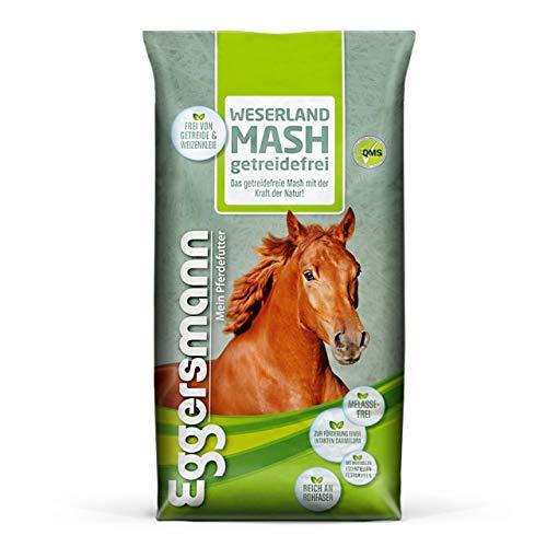 Eggersmann Weserland Mash getreidefrei¬ – Verdauungsförderndes Pferdefutter frei von Melasse, Getreide und Weizenkleie – 15 kg Sack