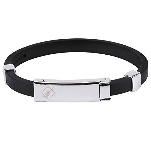 Silikon Armbänder, Silikon Armband, Justierbares Antistatisches Handgelenkband, Fitness Negative Ionen Wasserdicht Handschlaufe (Schwarz)