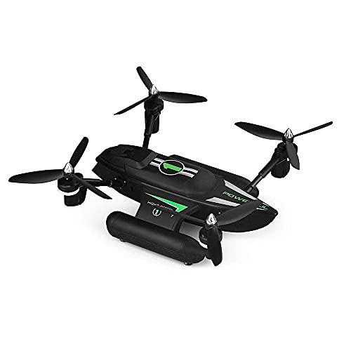 DCLINA Sea Land And Air Amphibious Spacecraft 2.4GHz Telecomando Drone Quadcopter Modello Aeroplano Giocattolo Semplice operazione Ritorno con Un Solo Pulsante Luci a LED Colorate