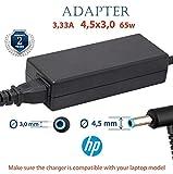 HP Netzteil 3.33A 4.5x3.0 (PIN) 19.5v 65w | hp Ladekabel für die Laptops HP Elitebook, Probook,...