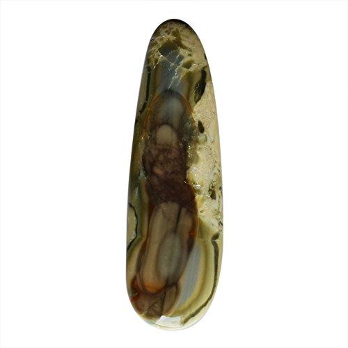Piedra colgante de jaspe imperial natural, 50 x 15 x 5 mm, piedra preciosa para bisutería, diseño AG-10597