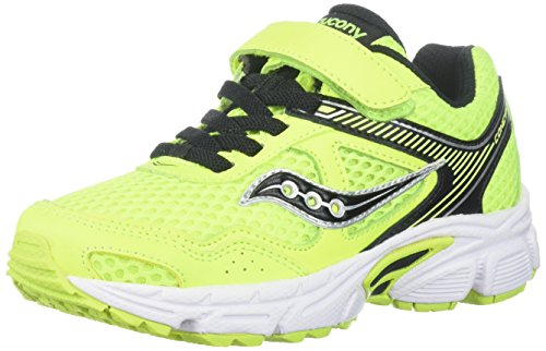 Saucony Boys' Cohesion 10 Lace Running Shoe, Black/Pink,...