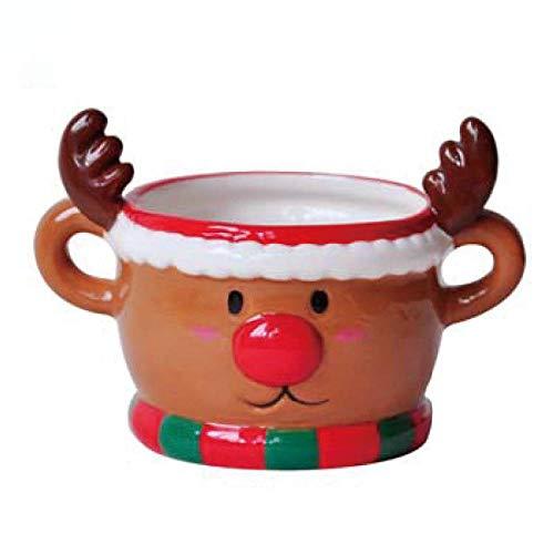 Taza De Postre De Cerámica Feliz Navidad Papá Noel Muñeco De Nieve Taza De Dibujos Animados Lindo Familia Amigos Regalos De Navidad-C