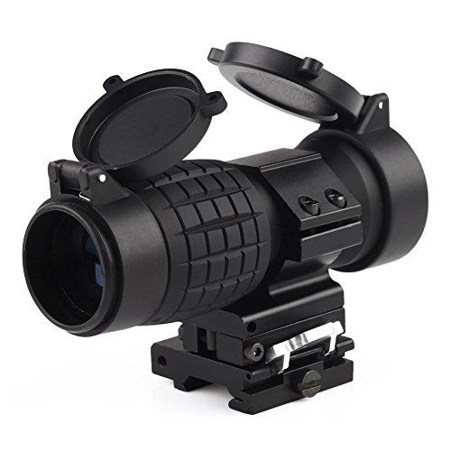 VERY100 Vergrößerungsglas Bereich Magnification für Red Dot Sight Flip bis zur Seite Optiklinse Abdeckunge (3X Magnification mit andeckung)