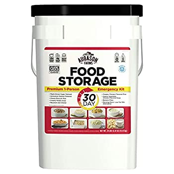 Augason Farms 30-Day 1-Person Emergency Food Supply – QSS Certified  White