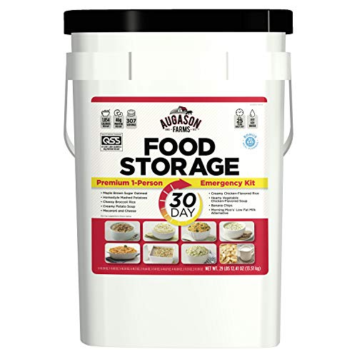 Augason Farms 30-Day 1-Person Emergency Food Supply – QSS Certified , White