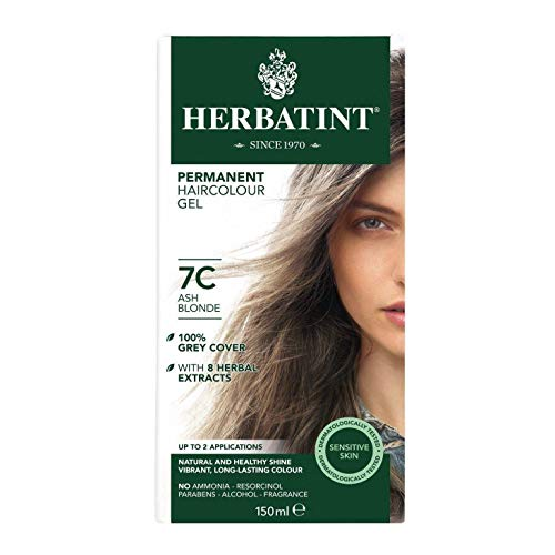 Herbatint 7C Ash Blonde Permanent Herbal Hair Colour Gel 135ml
