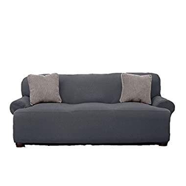 Le Benton Sofa Cover, Stretchable, Beautiful Look, Great Protector, Highest Quality Couch Slipcover, Grey
