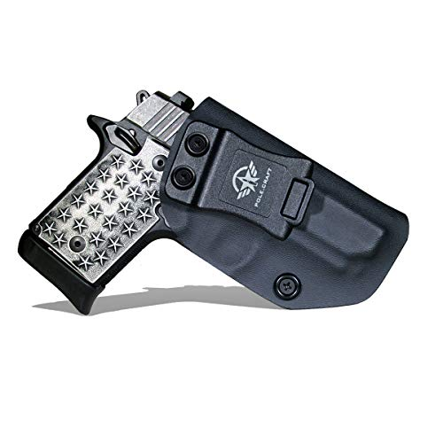 P938 Holster, Kydex IWB Holster for Sig Sauer P938 Gun Case Concealed Carry - Inside Waistband Carry Concealed Holster P938 Pistol Case Pouch Bag Guns Accessories (Black, Right Hand Draw)