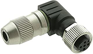 Sensor Connector, HARAX Series, M12, Receptacle, 4 Contacts, IDC / IDT Socket, Straight Cable Mount