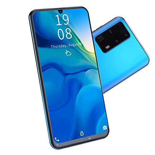 Sxhlseller Smartphone, 7.2 Pulgadas P40 Pro + Reconocimiento Facial 1GB + 16GB Tarjetas Duales Doble Modo de Espera 3G Teléfono Celular Desbloqueado(Azul)