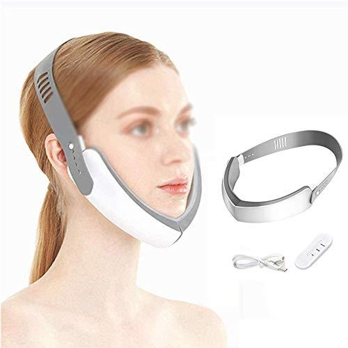HEWYHAT Masseter Für Facelifting-Instrumente, Vibrierendes Facelifting-Gerät, Das Kompaktes Kosmetisches Phototherapiegerät V Aus Kunststoff Zieht Gesicht USB-Aufladung
