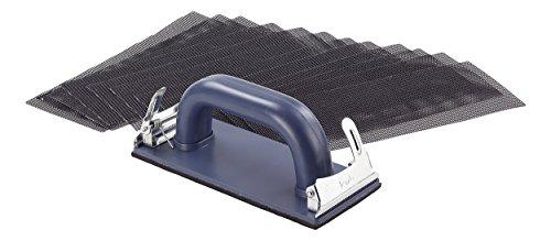 kwb Handschleifer-Set – 11-tlg. inkl. Schleifklotz mit Klemmvorichtung und Schleifgitter 93 mm x 230 mm (10 Stk.)