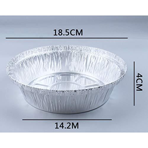 Barbecue dim sum bakken aluminiumfolie plaat wegwerpbord zetten pot, zeer geschikt voor pre-maaltijd bereiden, pastei, cake, vlees 125pcs,11