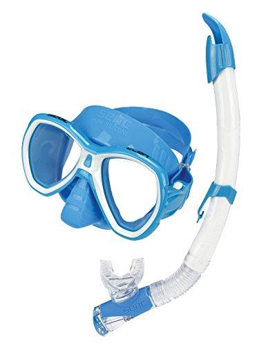 Seac-set tot Elba Color, combo set voor snorkelen en immersies, Sub Elba masker en snorkel Fast Tech, 100% siliconen, uniseks, volwassenen