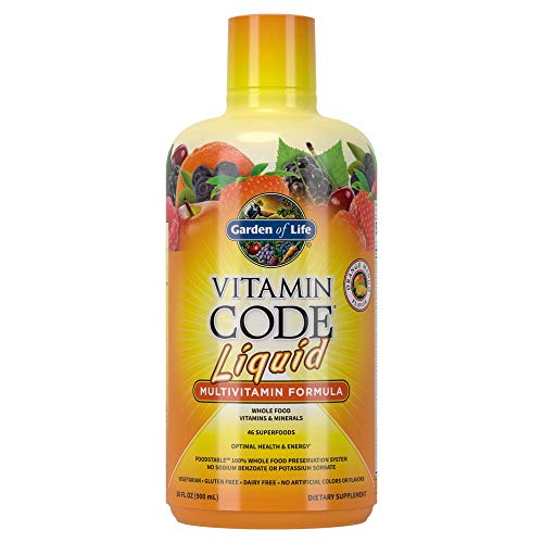 Garden of Life Multivitamin - Vitamin Code Liquid Raw Whole Food Vitamin Supplement, Vegetarian, No...
