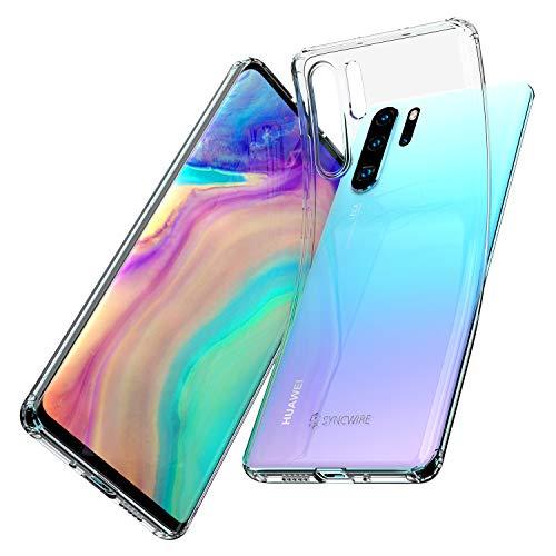 Syncwire Huawei P30 Pro Hülle, P30 Pro New Edition Anti-Gelb Ultradünn Silikonhülle Handyhülle Stoßdämpfend Case, Einteilige Schutzhülle mit Fallschutz-Technologie für Huawei P30 Pro, Transparent