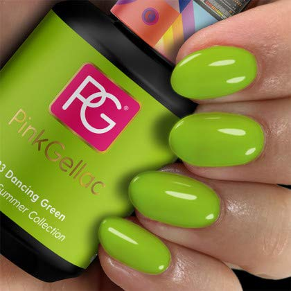 Pink Gellac Shellac Gel Nagellack 15 ml für UV LED Lampe | 293 Dancing Green Grün | Gel Nail Polish for UV Nail Lamp | LED Nagel Lack Gellack Nagelgel