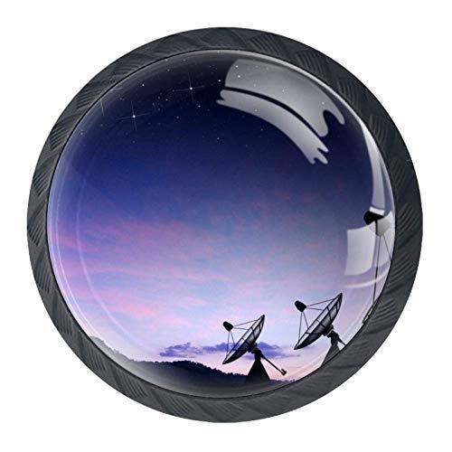 Mini-Knauf für Satellitenschüssel, Sky, Sonne, Sterne, Schrank und Schublade, mit Schrauben
