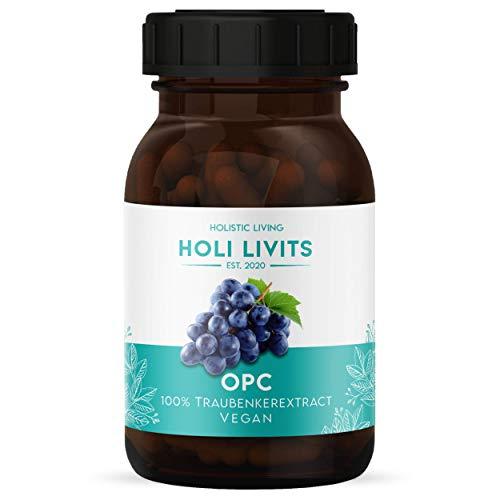 Holi Livits   100{5b00e5c5b0c966b4956e8ed2940935261de4ff7484a6aa3f500a0eb503d650e1} Bio OPC Traubenkernextrakt hochdosiert 120 Kapseln – Veganes Nahrungsergänzungsmittel – Hochwirksame Antioxidantien für Ihre Gesundheit