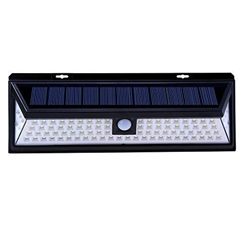 Solarlampen für Außen LXQIY Solar Aussenleuchte mit Bewegungsmelder 90 LEDs 800 Lumen IP65 270° Wasserdicht Superhelle Solarleuchten Fortgeschritten Solarleuchte Beleuchtung 3 Modi für Gärten Flur