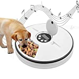 thanksky Automatic Dog Feeder Cat Food Dispenser, Dry or Wet Pet Feeder Automatic, 6 Meal Trays with Portion Control, LCD Smart Programmable Clock(Dark Grey)
