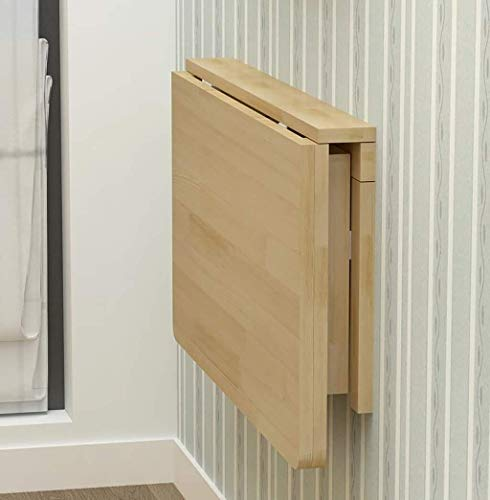 Inklapbare standaard Aan de muur bevestigde Klaptafel, Folding Eettafel Bureau, Massief Houten Tafel for smalle ruimte Utility Tables Stijlvolle eenvoudige creatieve klaptafel (Size : 120x60cm)