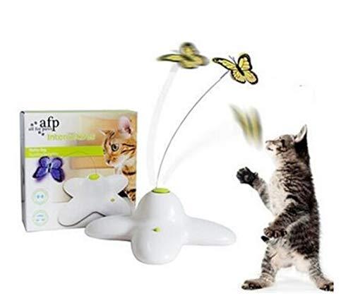 LUOSI Animale Domestico Cat Toy Interactive Electric Butterfly Che Gioca I Giocattoli Giranti della Farfalla for Kitten Funny (Color : As Pictures)