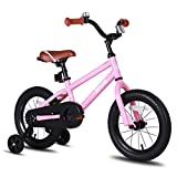 JOYSTAR 16' Kids Bike for Girls 5 6 7 Years Old with Training Wheels, Kids Bicycle with Coaster Brake, Children Cycling, Pink