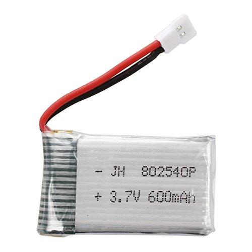 TOOGOO(R) Mejorado 3.7V 600mAh 25C Lipo bateria para SYMA X5c X5