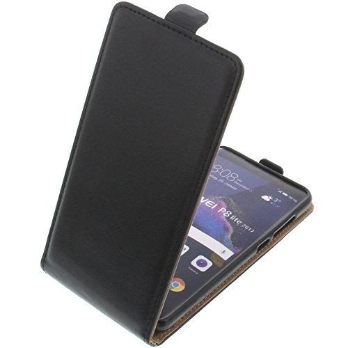 foto-kontor Tasche für Huawei P8 Lite 2017 Smartphone Flipstyle Schutz Hülle schwarz