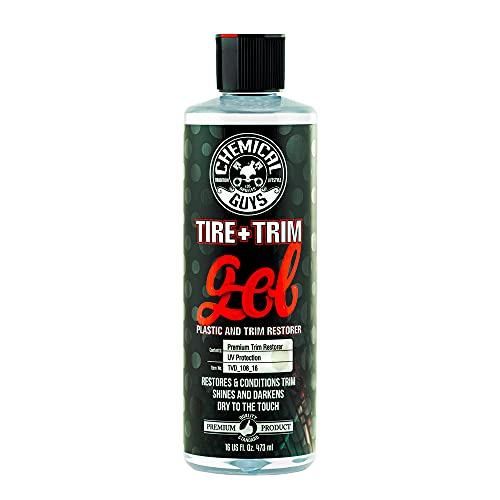 Chemical Guys TVD_108_16 Tire and Trim Gel for Plastic and Rubber, Restore and Renew Faded Tires, Trim, Bumpers and Rubber, 16 oz