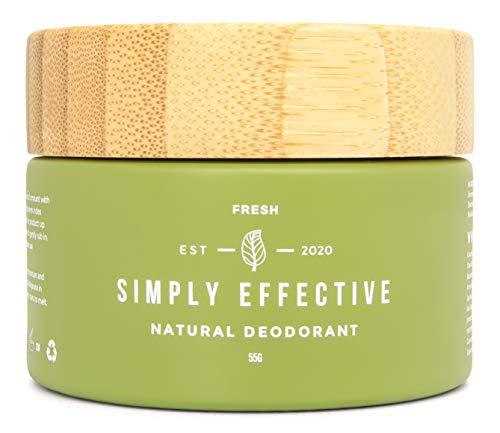 FRESH Natural Deodorant by Simply Effective I 100% Natural I Vegan I Plastic-Free I Aluminium-Free
