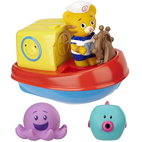 Baby Bath Tub Toy Daniel Tiger's Neighborhood Daniel's Bathtub Voyage Adventure, 6 Piece Set - Perfect for Baby/Toddler Boys and Girls 18 Months and up