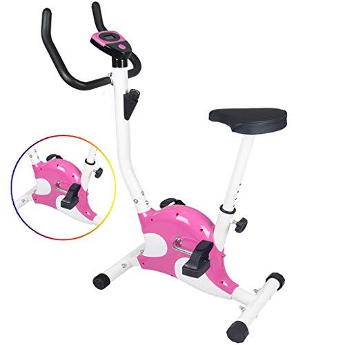 Bici da Spinning Home Esercizio Tranquillo Biciclette Indoor Exercise Equipment Mini Bici con l'altoparlante Bluetooth (Color : Pink, Size : 63 * 41 * 110cm)