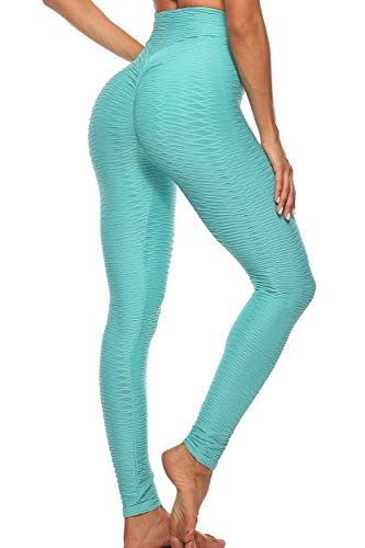 FITTOO Mallas Leggings Mujer Pantalones Deportivos oga Alta Cintura Elásticos Transpirables Azul S