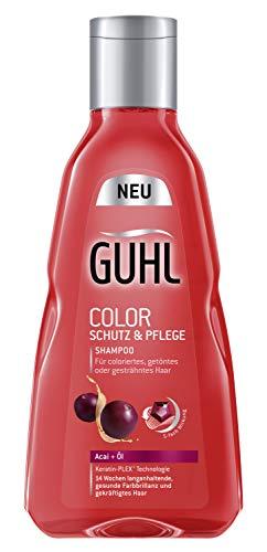 Guhl Color Schutz und Pflege Shampoo - 2er Pack (2x 250 ml) - mit Acai-Öl - schütz die Farbe und spendet Feuchtigkeit