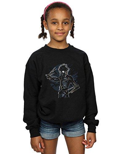 Drewbacca Mädchen Gas Mask Scissors Sweatshirt Schwarz 12-13 Years