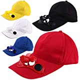 DokFin Kühlventilator-Hut, Solarventilator-Kappe Kühle Sommer-automatische beiläufige Strand-Hut-Unisexaußenbaseballmütze mit Sonnenkollektor für das Sport-aufpassende Golf-Fischen