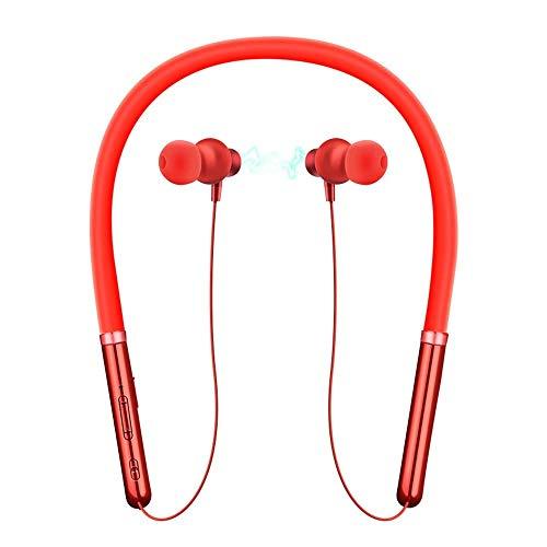 TYXL Bluetooth Headset Drahtlose Beschichtung Sporthals Installation Binaurale Automatische Magnetische 3D Bilaterale Stereo Lange Standby-Bluetooth-Headset (Color : White)