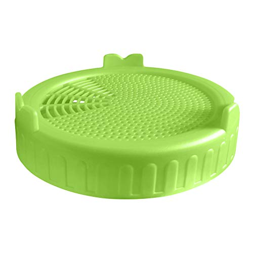 Weiounimoto Wide Mouth Plastic Mason Jar Sprouting Lid Food Grade Mesh Sprout Cover
