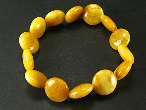 The Russian Stone Himalaya-Armband aus Himalaya-Gold, Azeztulit, 18 cm, 14 mm runde Perlen