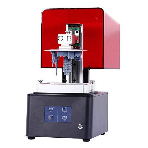 Kiyte Stampante LCD 3D per Fotocopiatura UV con Custodia, Smart Touch Screen, Sorgente Luminosa Matrix UV LED, Stampa Offline, Silenziosa, per Odontoiatria, Ufficio O Aula,Rosso
