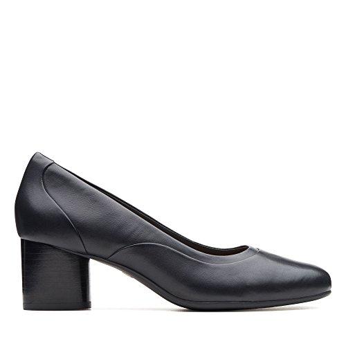 Clarks Damen Un Cosmo Step Pumps, Schwarz (Black Leather Black Leather), 40 EU