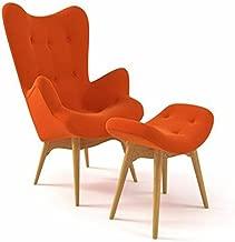 Grant Featherston Contour Style Chair with Ottoman (Orange)