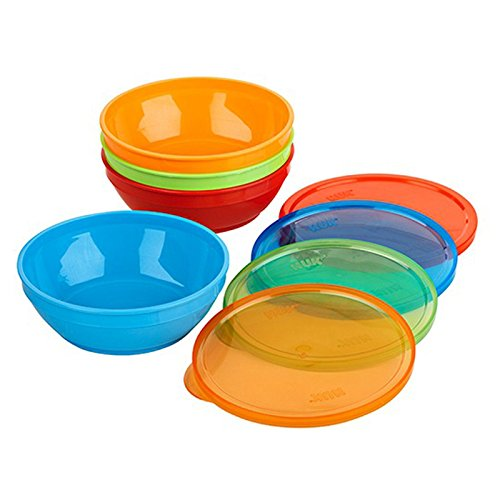 Gerber Graduates 12 Count Bunch-A-Bowls with Lids, Colors May Vary
