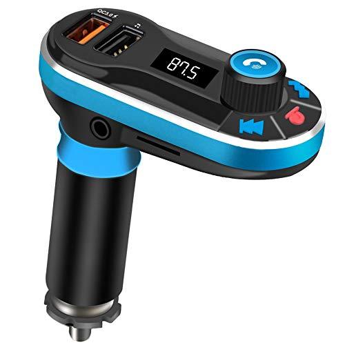 FM Transmitter Bluetooth Auto KFZ Freisprecheinrichtung Radio Adapter mit QC3.0